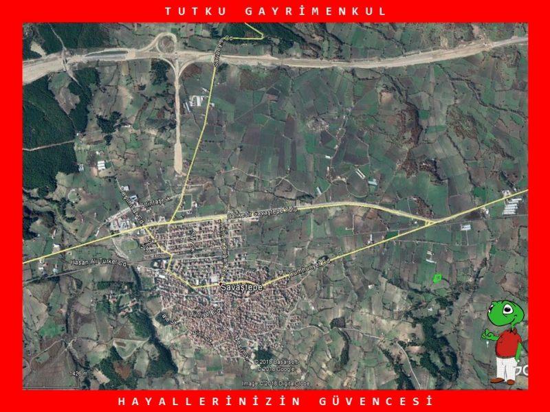 SAVAŞTEPE'DE OTOYOLA YAKIN 3.040 M2 TARLA – TUTKU GAYRİMENKUL