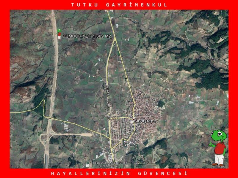SAVAŞTEPE'DE OTOYOLA YAKIN 1.309 M2 TARLA – TUTKU GAYRİMENKUL
