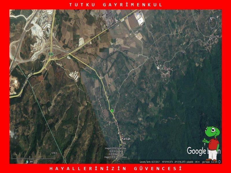 ORHANGAZİ KARSAK'TA 1.360 M2 ARSA – TUTKU GAYRİMENKUL