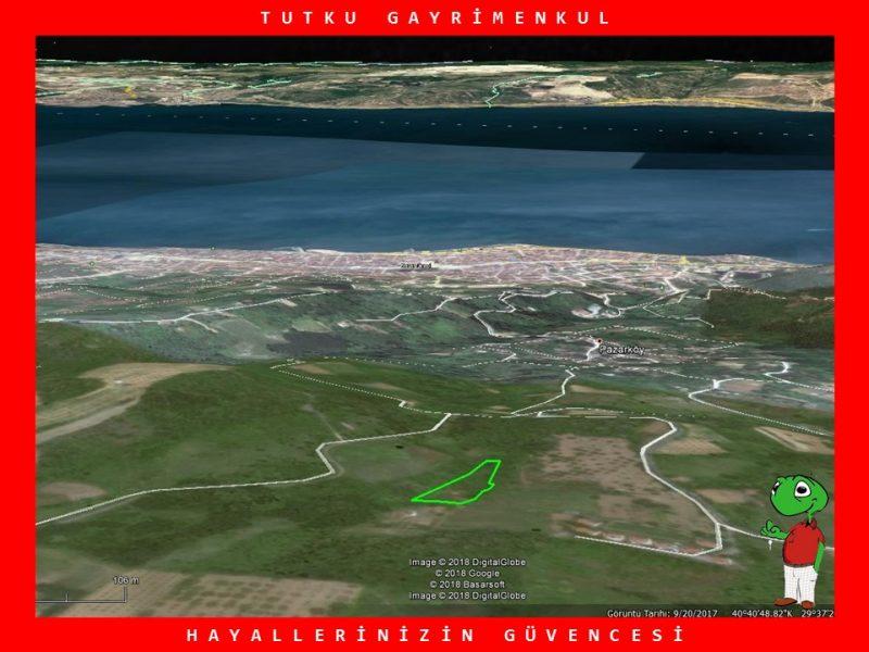 PAZARKÖY'DE DENİZ MANZARALI 2.961 M2 TARLA – TUTKU GAYRİMENKUL